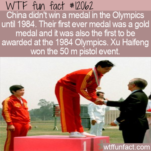 WTF Fun Fact - China's First Ever Olympic Medal