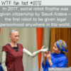 WTF Fun Fact – First Robot With Citizenship