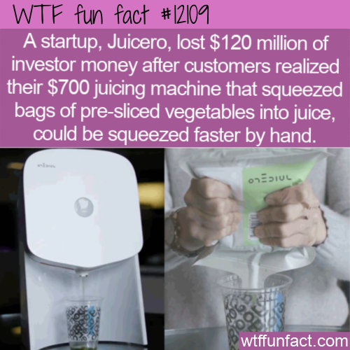 WTF Fun Fact - Hand Squeezed Vs Juice Machine