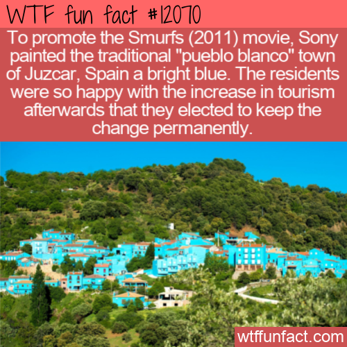 WTF Fun Fact - Paint The Town Smurf Blue
