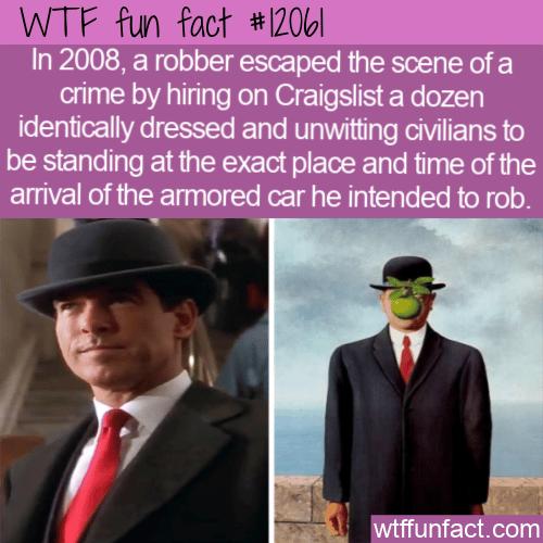 WTF Fun Fact - Robbery From Movie Plot
