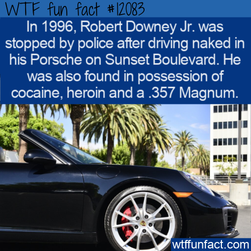 WTF Fun Fact - Robert Downey Jr. Naked And Red Handed