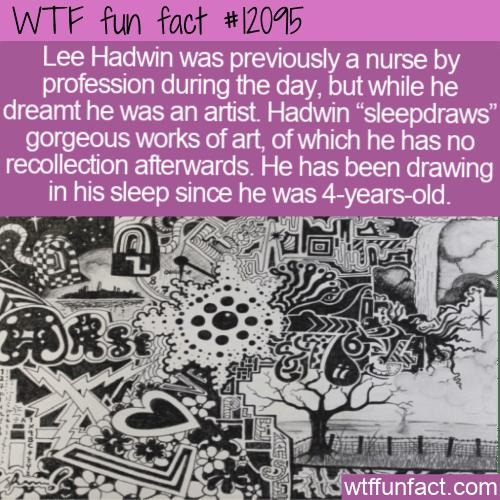 WTF Fun Fact - Sleepdrawer Lee Hadwin