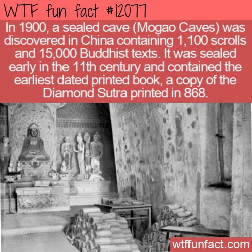 WTF Fun Fact - The Library Cave At Mogao