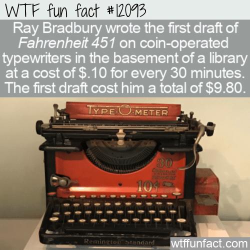 WTF Fun Fact - The Original Cost Of Fahrenheit 451