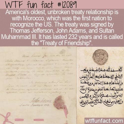 WTF Fun Fact - Treaty of Friendship