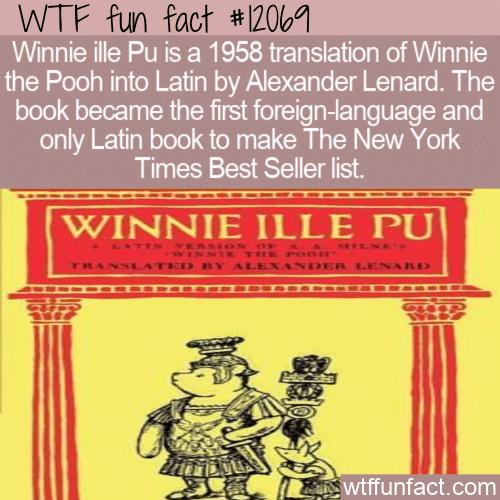 WTF Fun Fact - Winnie ille Pu