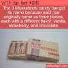 WTF Fun Fact – 3 Musketeers Had 3 Flavors