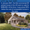 WTF Fun Fact –  3D Printed House For Sale
