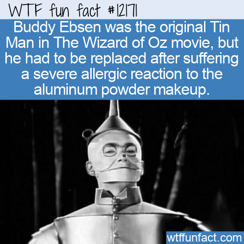 WTF Fun Fact - Buddy Ebsen Tin Man Problems