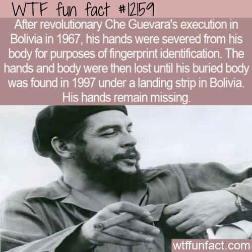 WTF Fun Fact - Che's Missing Hands
