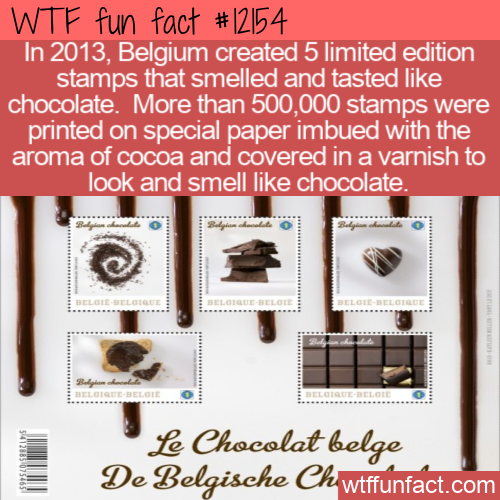 WTF Fun Fact - Chocolate Stamps
