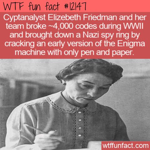 WTF Fun Fact - Codebreaker Elizebeth Friedman