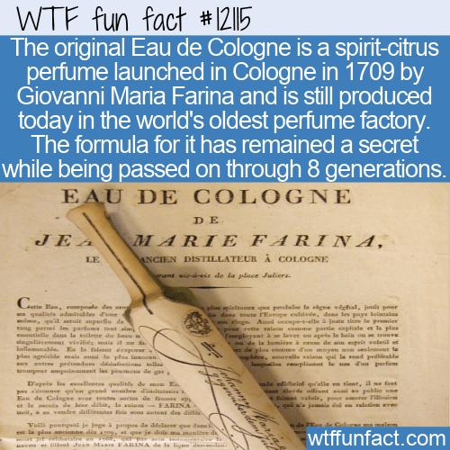 WTF Fun Fact - Eau de Cologne
