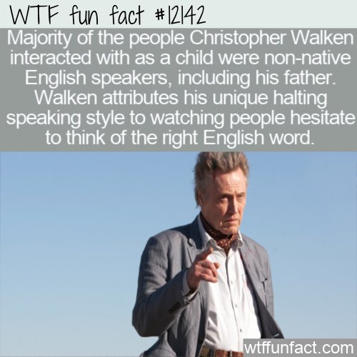 WTF Fun Fact - Origin Of Walken's Speaking Style