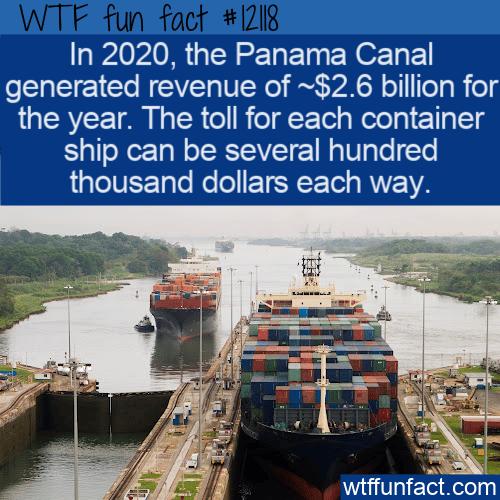 WTF Fun Fact - Panama Canal Revenues