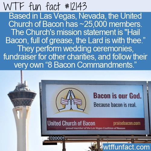 WTF Fun Fact - United Church of Bacon