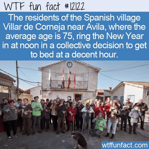 WTF Fun Fact - Villar de Corneja New Years