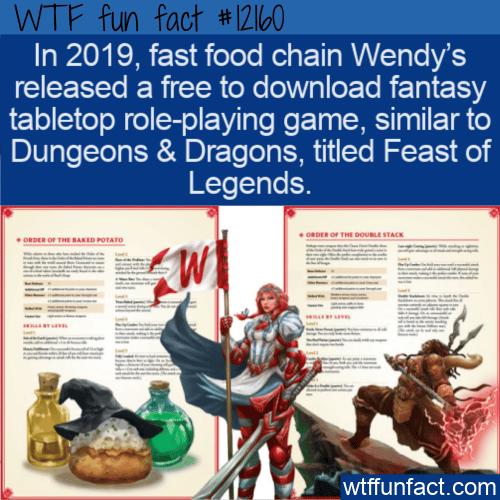 WTF Fun Fact - Wendy's Free Fantasy Game