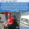 WTF Fun Fact – Wheelchair Does 60mph On Highway