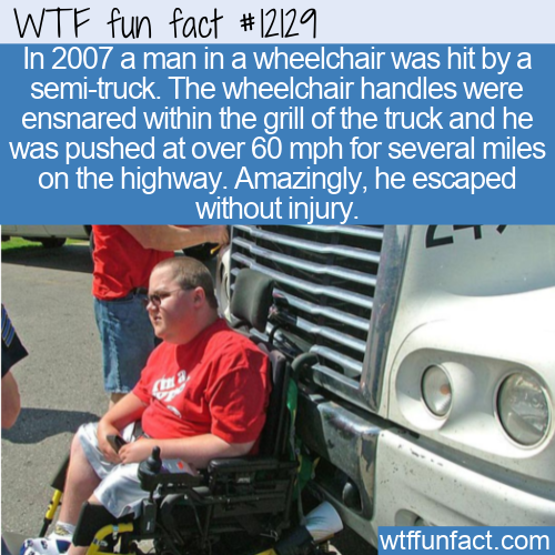 WTF Fun Fact - Wheelchair Does 60mph On Highway