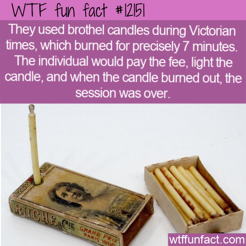 WTF Fun Fact - Ye Olde Brothel Candle