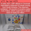 WTF Fun Fact – Cocaine Covered Corn Flakes