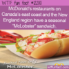 WTF Fun Fact – McLobster Sandwich