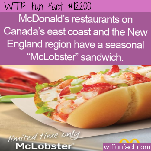 WTF Fun Fact - McLobster Sandwich