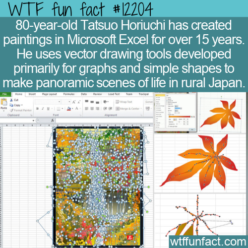 WTF Fun Fact - Microsoft Excel Paintings