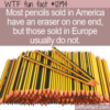 WTF Fun Fact – Pencils Without Erasers
