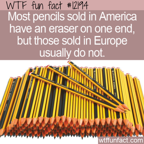 WTF Fun Fact - Pencils Without Erasers