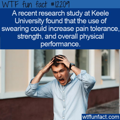 WTF Fun Fact - Swearing Increases Pain Tolerance And More