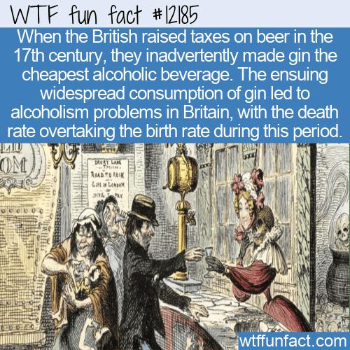 WTF Fun Fact - The Gin Craze