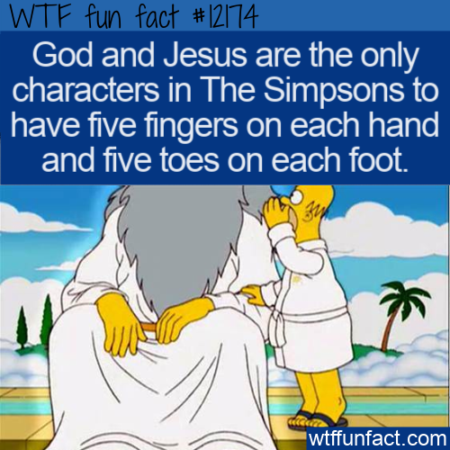 WTF Fun Fact - The Only Simpsons Characters With Five Fingers