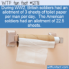 WTF Fun Fact – WW2 Toilet Paper Rations